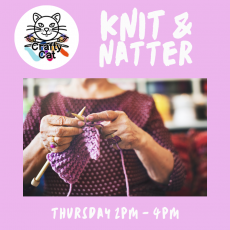 knit and natter, crafts, social