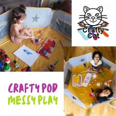crafty pod, messy play, sensory